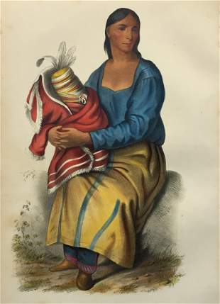 Charles Bird King - A Chippeway Widow