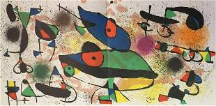 Joan Miro - Lithograph II from Sculptures