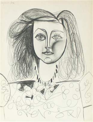 Pablo Picasso - Untitled (Portrait de Francoise Gilot)