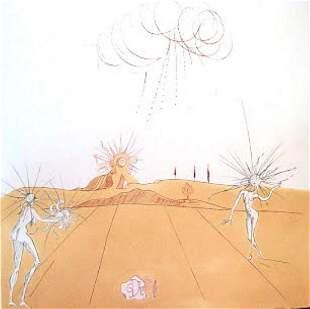 Salvador Dali - Paysage avec Figures