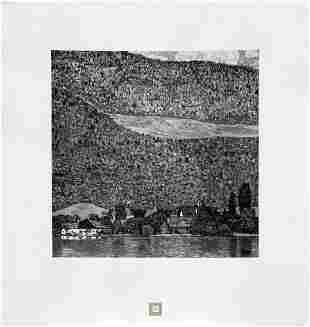 Gustav Klimt (After) - Unterach on Lake Attersee