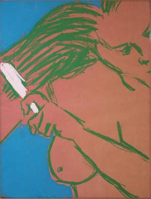 George Segal - Woman Brushing Her Hair