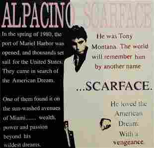 Steve Kaufman - Al Pacino as Scarface