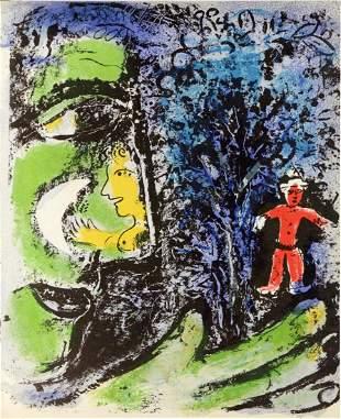 Marc Chagall - Le Profil et L'Enfant Rouge