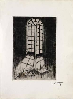 """Louis Icart - Palladian Doorway from """"L'ingenue"""