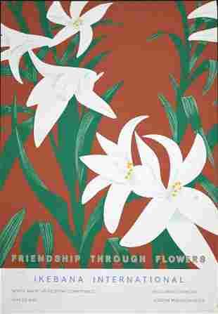Alex Katz - Friendship Through Flowers - Ikebana