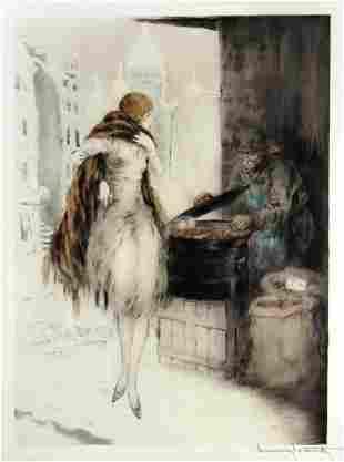 Louis Icart - Chestnut Vendor