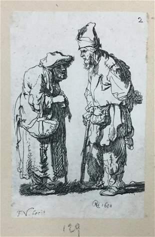 Rembrandt van Rijn - Begger Man and Begger Woman