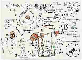 Jean-Michel Basquiat - Dog Leg Study