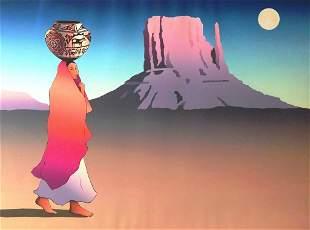 RC Gorman - Moonrise