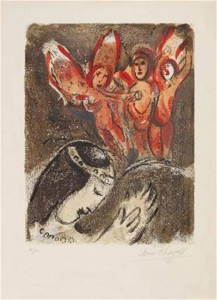 Marc Chagall - Sarah and the Angels