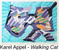 Karel Appel - Walking Cat