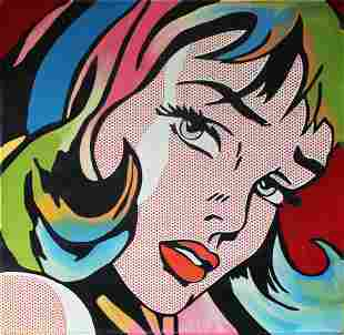 Steve Kaufman - Crying Girl (Multi-Colored)