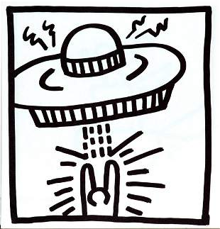 Keith Haring - Untitled (Alien Abduction)