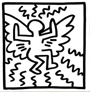 Keith Haring - Untitled (Angel)