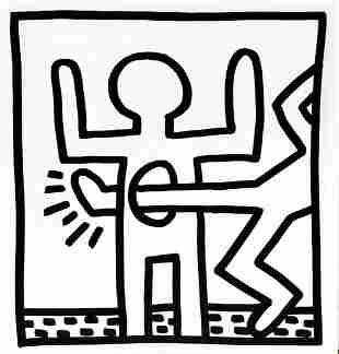 Keith Haring - Untitled (Kicking Through)