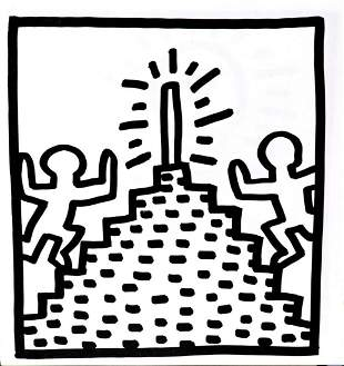 Keith Haring - Untitled (Pyramid Steppers)