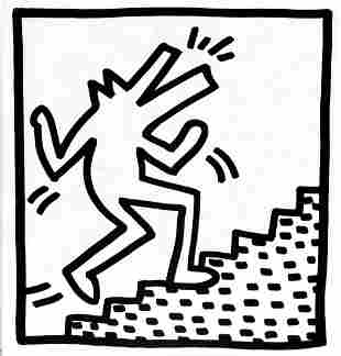 Keith Haring - Untitled (Up the Steps)