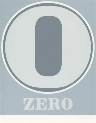"""Robert Indiana 0 """"Zero"""""""