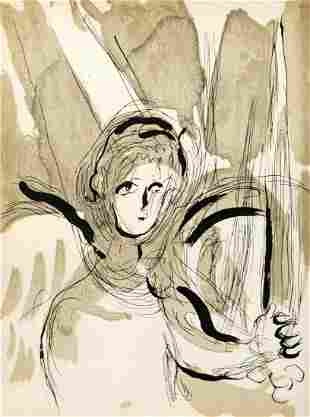 Marc Chagall - Angel with a Sword