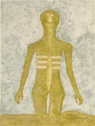 Rufino Tamayo - Figura en Ocre