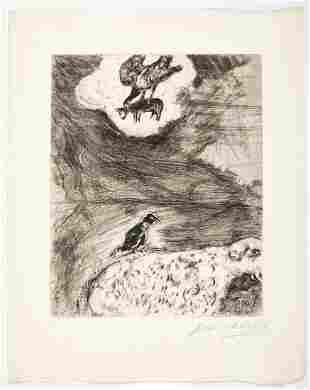Marc Chagall - Le Corbeau voulant imiter l'Aigle
