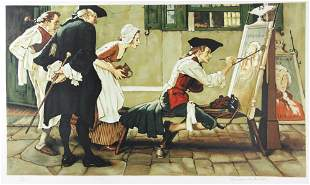 Norman Rockwell - Colonial Sign Painter