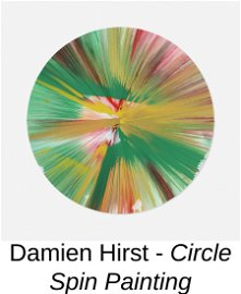 Damien Hirst - Circle Spin Painting