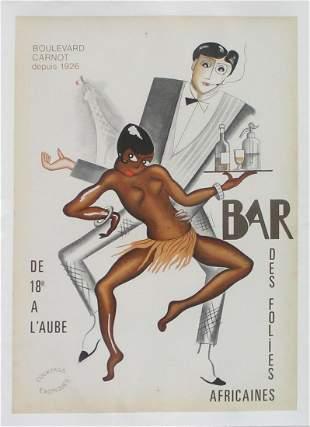 Paul Colin - Bar Negre (Vintage Poster)