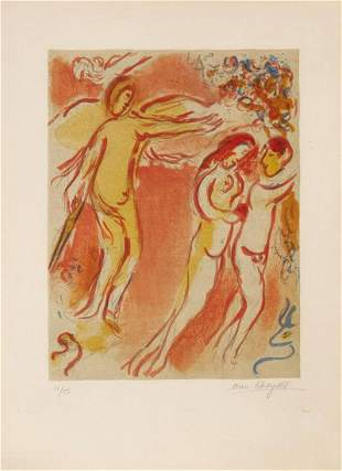 Marc Chagall - Adam and Eve Are Banished from Paradise
