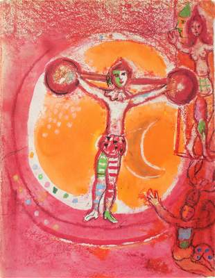 """Marc Chagall - Untitled from """"Le Cirque d'Izis"""""""