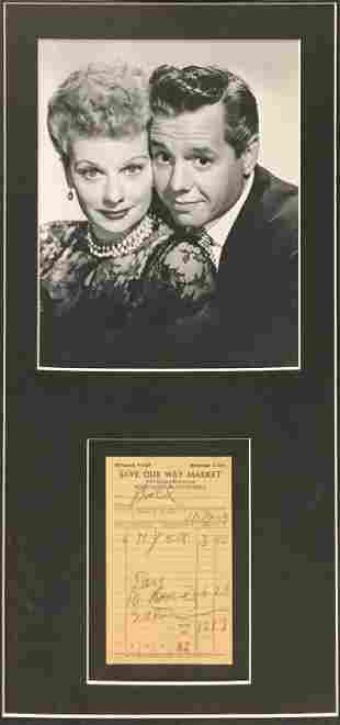 Lucille Ball and Desi Arnaz - Lucy Desi and Signed
