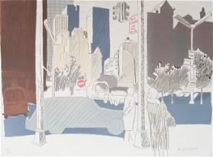 Fairfield Porter - New York Street Scene