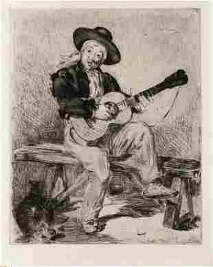 Edouard Manet - Le Chanteur Espagnol (Le Guitarero) The