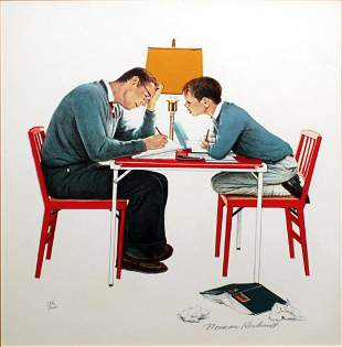 Norman Rockwell - Studying