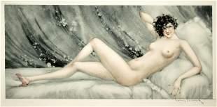 Louis Icart - Pink Slippers