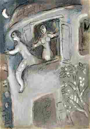 Marc Chagall - David Saved by Michal