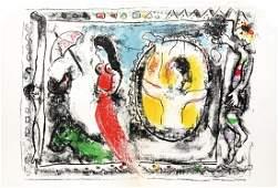 Marc Chagall - Femme Avec Parapluie