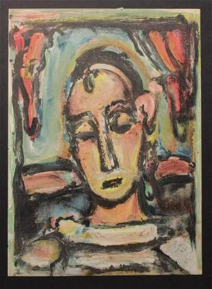George Roualt - Tete de la jeune fille