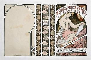 Alphonse Mucha - Menus et Programmes Illustres