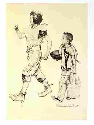Norman Rockwell - Football Mascot
