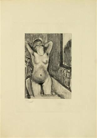 Edgar Degas (after) -Femme Debout dans une Baignoire