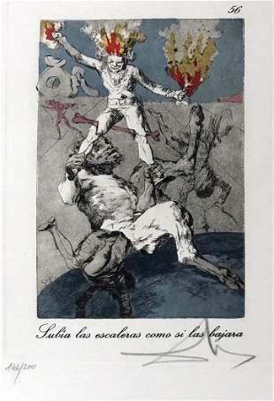 Salvador Dali - Julia las escaleras como si las lajara