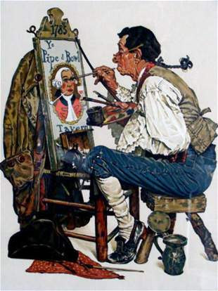 Norman Rockwell - Ye Pipe & Bowl