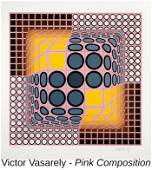 Victor Vasarely - Pink Composition