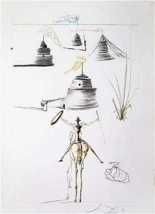 Salvador Dali - The Camp of King Mare