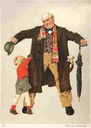 Norman Rockwell - The Gift (Little Boy Reaching in