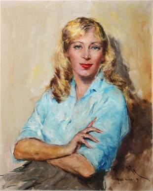 Pal Fried - Portrait of a Blonde Woman