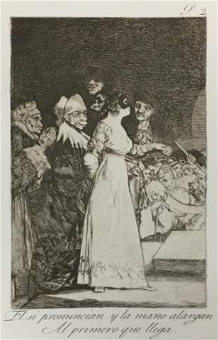 Francisco Goya - El si pronuncian y la mano alargan Al