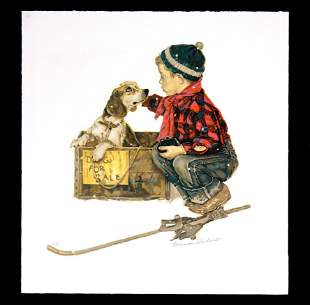 Norman Rockwell - A Boy Meets his Dog